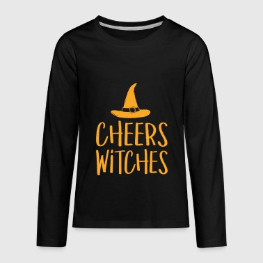 Cheers Witches Funny Halloween - Kids' Premium Long Sleeve T-Shirt