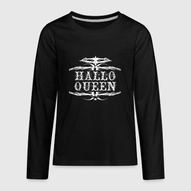 lady halloween halloween for ladies hallowqueen queen of halloween kids premium long