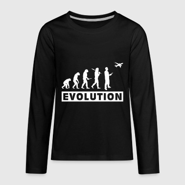RC Plane Evolution gift christmas kids - Kids' Premium Long Sleeve T-Shirt
