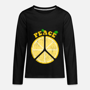 Christmas Peace Lemons Lemon Kids Children Design - Kids' Premium Long Sleeve T-Shirt