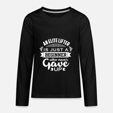Elite lifter 1 - Kids' Premium Longsleeve Shirt
