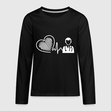 Doctor Heartbeat Shirt - Kids' Premium Long Sleeve T-Shirt