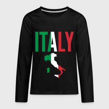 Italian Gift - Italy Map Country - Kids' Premium Long Sleeve T-Shirt