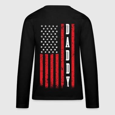 American Daddy on US Flag - Kids' Premium Long Sleeve T-Shirt