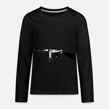1928ac Thompson Tommy Gun submachine gun - Kids' Premium Longsleeve Shirt
