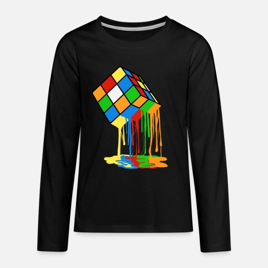 Rubik's Cube T-Shirts - Love Brick games? Fan of Rubrik's Cube? Found the - Kids' Premium Longsleeve Shirt black