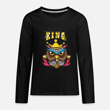 Crook Owl Lover? A Perfect Owls Tee For You Owl King - Kids' Premium Longsleeve Shirt