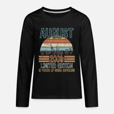 Death Stars Birthday Shirt For Those Who Were Born In 2009  - Kids' Premium Longsleeve Shirt