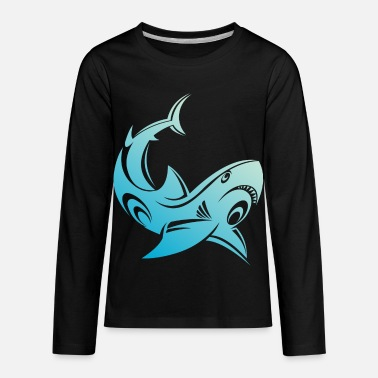 Curves curved fish - Kids' Premium Longsleeve Shirt