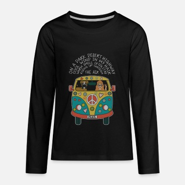On A Dark Desert Highway Cool Wind In My Hair - Kids' Premium Longsleeve Shirt