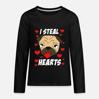 Steal I Steal Hearts Lover Couple With Hearts Tshirt - Kids' Premium Longsleeve Shirt