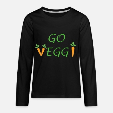Go Veggie vegetarian green food - Kids' Premium Longsleeve Shirt
