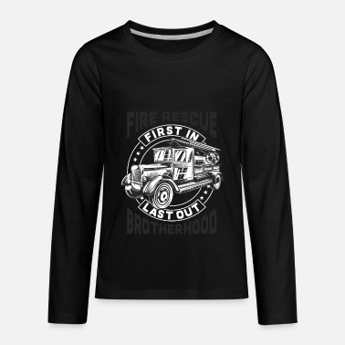 Classic Firefigther Truck - Fire Rescue - Kids' Premium Long Sleeve T-Shirt