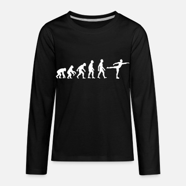 Evolution Evolution of Man Ice Skating - Kids' Premium Longsleeve Shirt