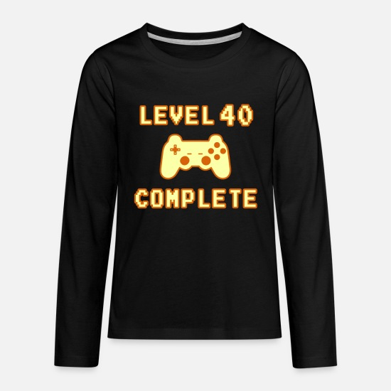 Birthday Long-Sleeve Shirts - Level 40 Complete 40th Birthday 1979 - Kids' Premium Longsleeve Shirt black