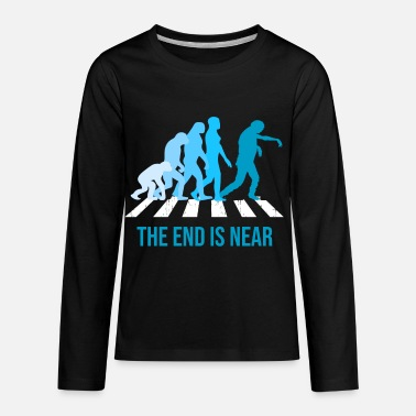 Epidemic End Is Near Zombie Evolution Walker Epidemic Gift - Kids' Premium Longsleeve Shirt