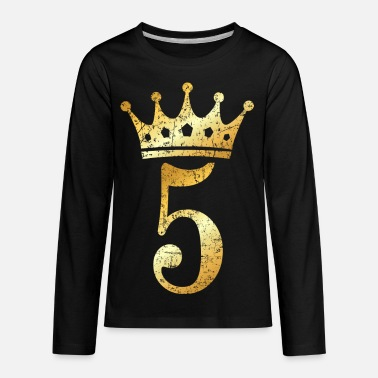 46383055 5th Birthday Crown Number 5 (Ancient Gold) Kids' T-Shirt | Spreadshirt