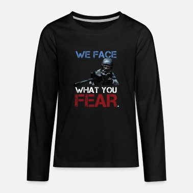 Ctf GAMING we face what you fear - Kids' Premium Longsleeve Shirt