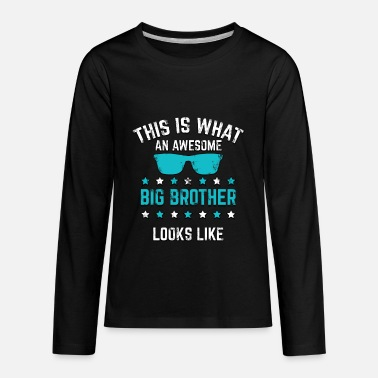 Big Brother New Big Brother Awesome Big Brother Gift - Kids' Premium Long Sleeve T-Shirt