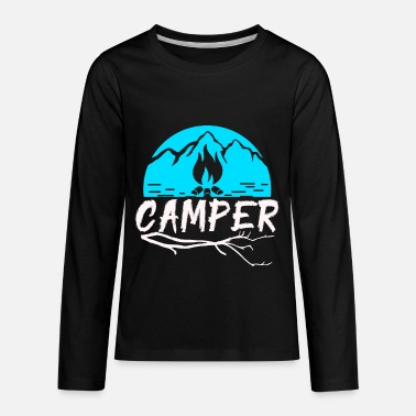 Camping Hiking Camper holiday wilderness - Kids' Premium Longsleeve Shirt