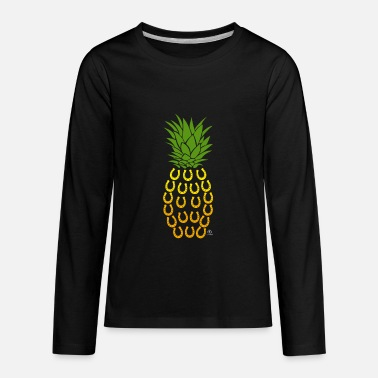 Horse shoe pineapple gift - Kids' Premium Long Sleeve T-Shirt