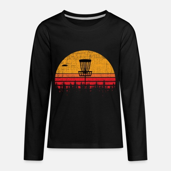 9240d098f Golf T-Shirts - Vintage Distressed Retro Frisbee Disc Golf - Kids' Premium  Longsleeve