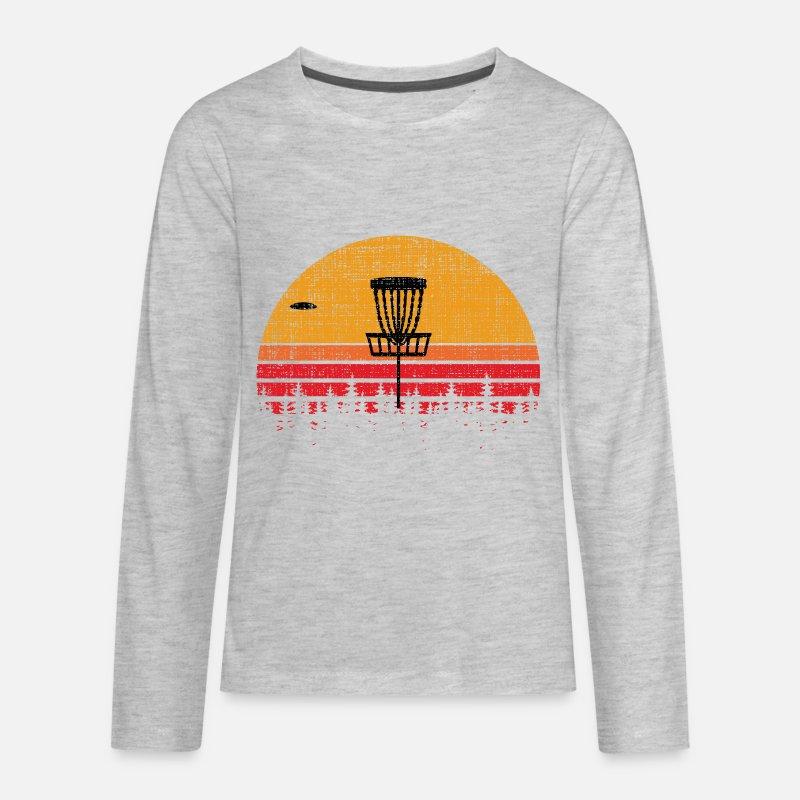 3bf031efe Vintage Distressed Retro Frisbee Disc Golf Kids' Premium Longsleeve Shirt |  Spreadshirt