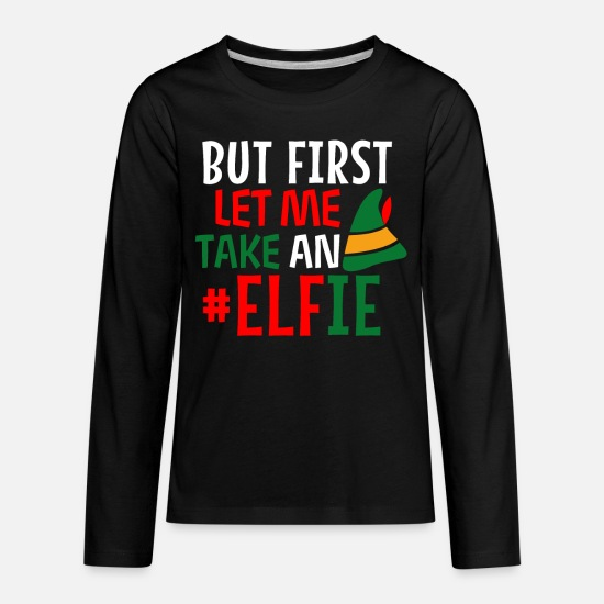 Elf Long-Sleeve Shirts - Elf elf Nicholas - Kids' Premium Longsleeve Shirt black