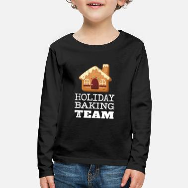 Cookies Holiday Baking Team Funny Christmas Holiday Design - Kids' Premium Longsleeve Shirt