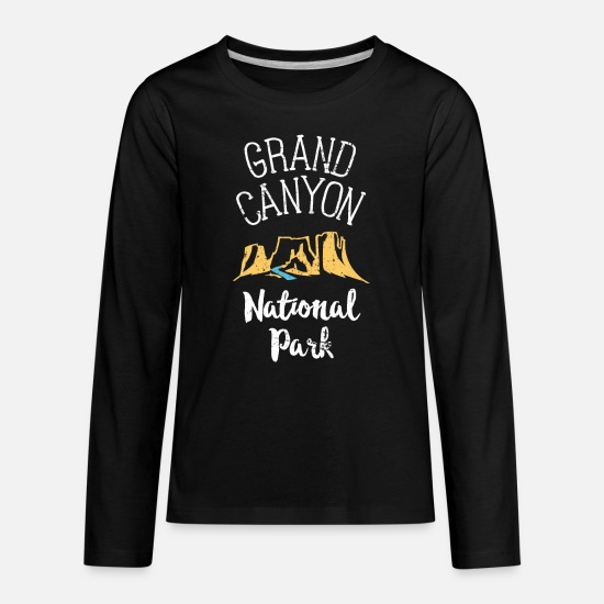 Grand Long-Sleeve Shirts - Grand Canyon National Park TShirt Family Vacation Souvenir - Kids' Premium Longsleeve Shirt black