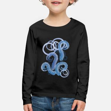 Abstract abstract blue tide - Kids' Premium Longsleeve Shirt