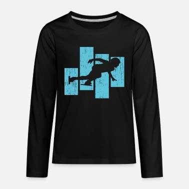 Skater Speed Skating Skater - Kids' Premium Longsleeve Shirt