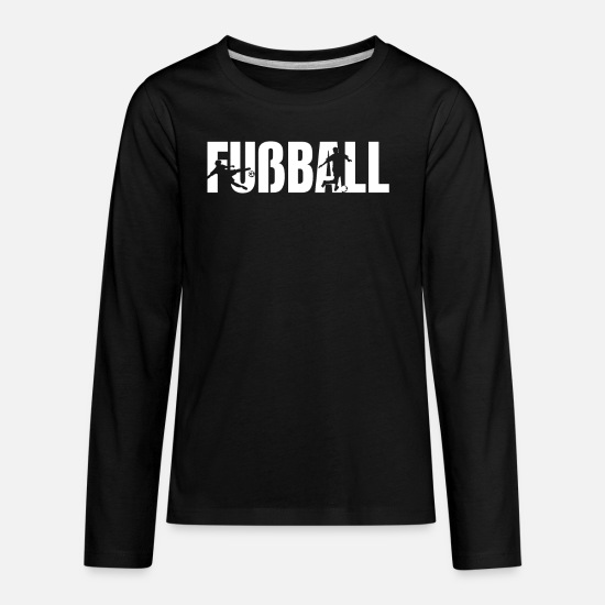Play T-Shirts - Soccer Fußball Gift Playing Soccer Gift - Kids' Premium Longsleeve Shirt black