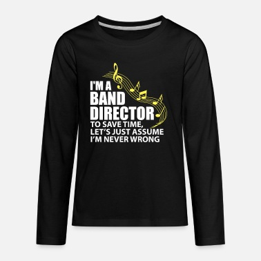 Double Blues I'm A Band Director Funny Musician Music Lover - Kids' Premium Longsleeve Shirt