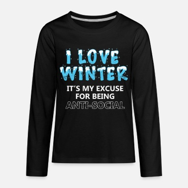 I Love Winter I love Winter - Kids' Premium Longsleeve Shirt