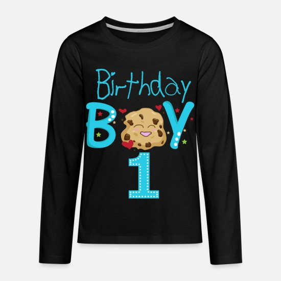Birthday Boy 1 Year Old Shirt Kids Premium Longsleeve