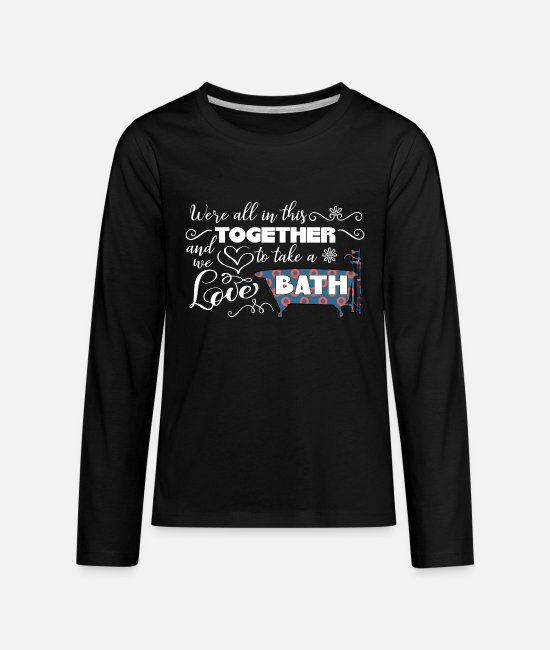 Phanart Long-Sleeved Shirts - Phish Bathtub Gin Phanart - Kids' Premium Longsleeve Shirt black