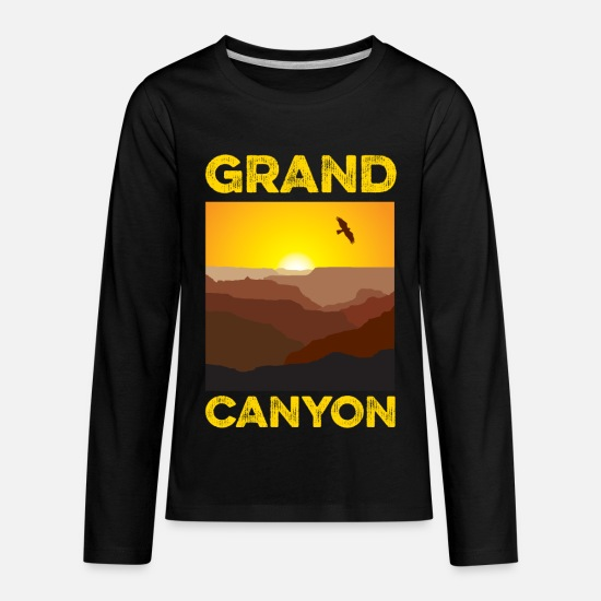 Grand Long-Sleeve Shirts - Grand Canyon - Kids' Premium Longsleeve Shirt black