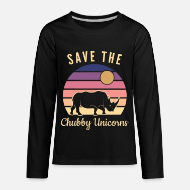 Save| Chubby| Unicorns| Rhino| Horn| Endangered - Kids' Premium Longsleeve Shirt