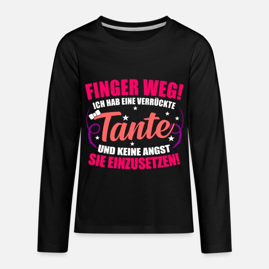 Aunt Long-Sleeve Shirts - Aunt Gift Idea - Kids' Premium Longsleeve Shirt black