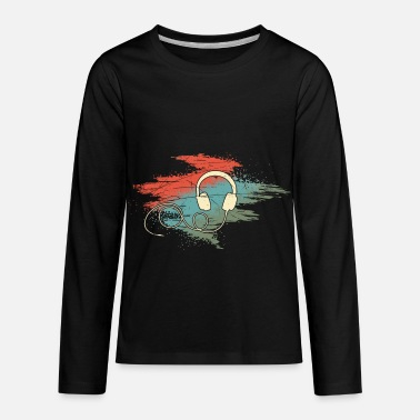 Electro Wired in for Music - Kids' Premium Longsleeve Shirt