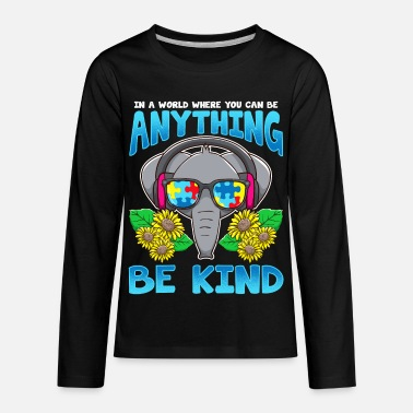 Autism Awareness Be Kind - Kids' Premium Longsleeve Shirt
