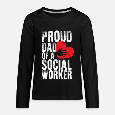Worker School Social Worker Dad Mental Health - Kids' Premium Longsleeve Shirt