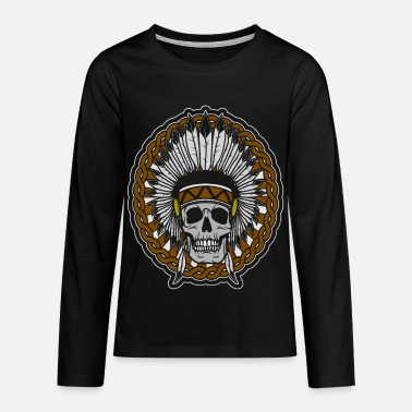 Heavy Metal skull skeleton gift - Kids' Premium Longsleeve Shirt