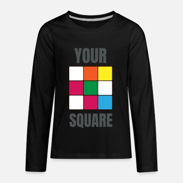 Rubix Rubix Cube from the 80s - Kids' Premium Longsleeve Shirt