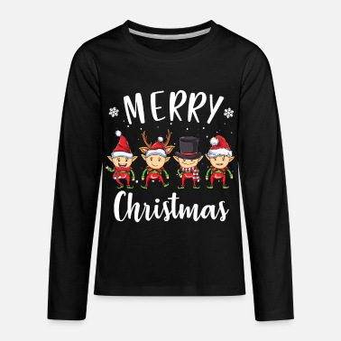 Girl Elven Elf Merry Christmas Elves Elf - Kids' Premium Longsleeve Shirt