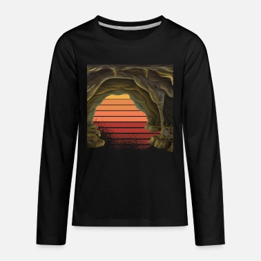 Cave Exploring Art Diving Vintage Retro - Kids' Premium Longsleeve Shirt
