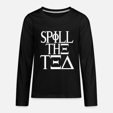 Blabber Spill The Tea - Kids' Premium Longsleeve Shirt