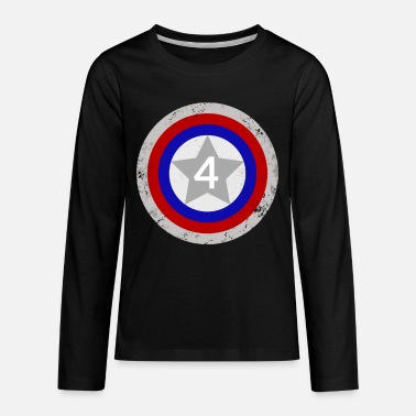 Captain 4th Birthday Shield - Kids' Premium Longsleeve Shirt