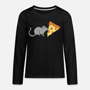 Rat Funny Rats Pizza Cute Funny Rats Gift For Rat Lover - Kids' Premium Longsleeve Shirt
